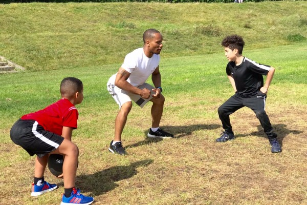 me showing ant and dashawn how to squat